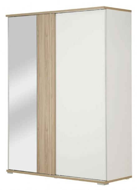 Arcane White and Cedar Effect Wardrobe 2 Sliding Doors